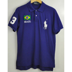 Polo By Ralph Lauren Brazil Size Large Blue